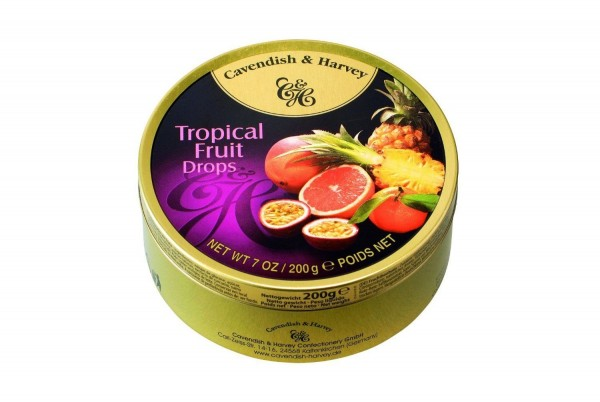 Cavendish & Harvey - Tropical Fruit Drops - Bonbons - 200g in Metalldose