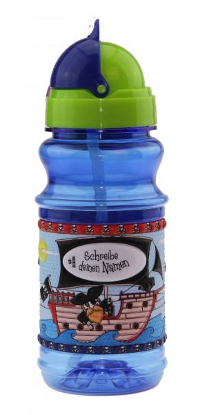 Trinkflasche mit Namen für Kinder Piraten