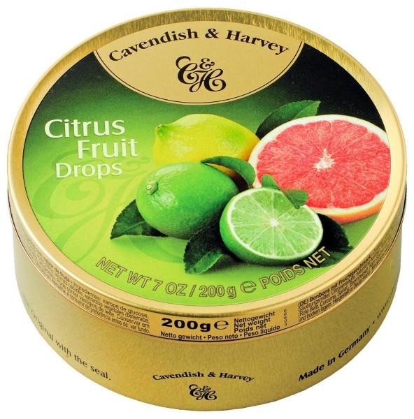 Cavendish & Harvey - Citrus Fruit Drops - Bonbons - 200g in Metalldose