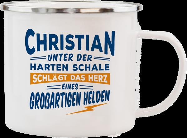 History & Heraldry Echte Kerle Christian Emaille Becher Kaffeebecher Kaffeepott