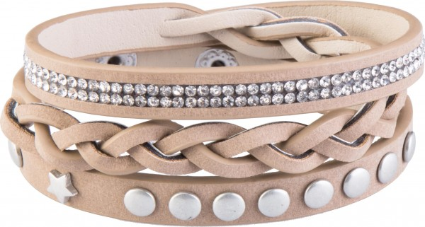 Goldline - COMBINATION 4 YOU JEWELRY® - Crystal Line Armband Wickelarmband 40
