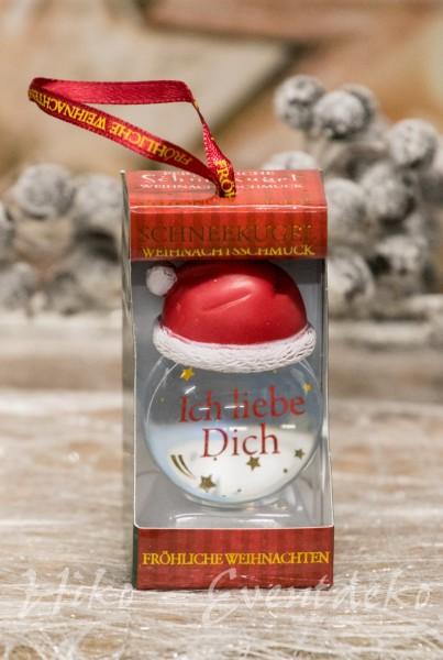 H&H History Heraldry Schneekugel, personalisiert, Ich liebe Dich, schöne Geschenkidee