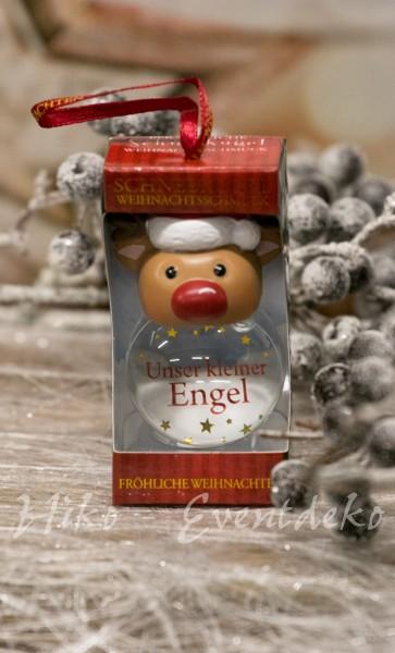 H&H History Heraldry Schneekugel, personalisiert, für die Weihnachtszeit Unser kleiner Engel
