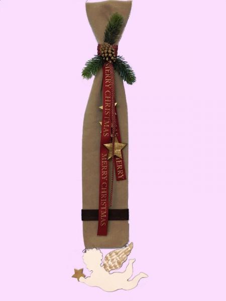 Fensterdeko Winter Nr.30  Filzbanner mit Engel 78 cm Türschmuck Wanddeko Tanne
