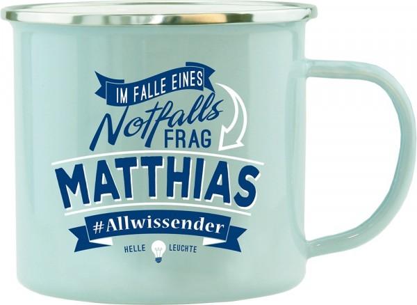 History & Heraldry Echte Kerle Becher Matthias Emaille Becher Kaffeebecher Kaffeepott