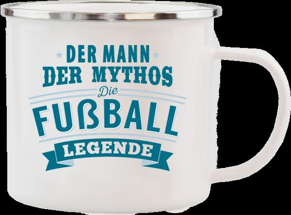 History & Heraldry Echte Kerle Fussballer Emaille Becher Kaffeebecher Kaffeepott