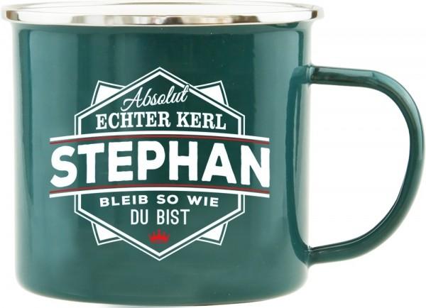 History & Heraldry Echte Kerle Becher Stephan Emaille Becher Kaffeebecher Kaffeepott