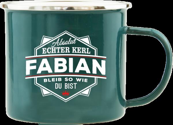 History & Heraldry Echte Kerle Fabian Emaille Becher Kaffeebecher Kaffeepott