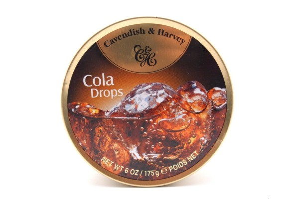 Cavendish & Harvey - Cola Drops - Bonbons - 175g in Metalldose