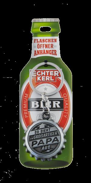 H&H Flaschenöffner - Papa - Echter Kerl Flaschenöffner Anhänger Schlüsselanhänger