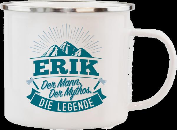 History & Heraldry Echte Kerle Erik Emaille Becher Kaffeebecher Kaffeepott
