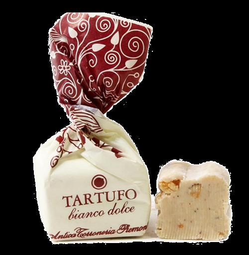 Trüffelpraline Praline Tartufo bianchi Italienische Trüffel