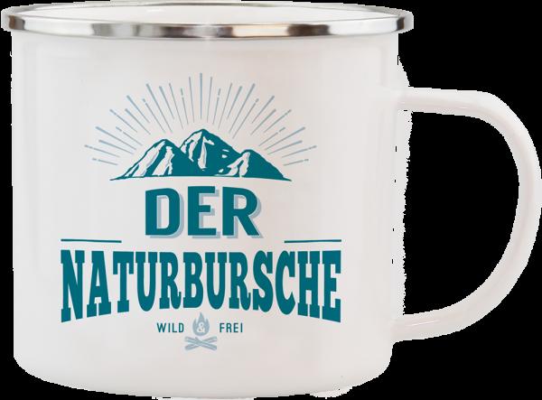 History & Heraldry Echte Kerle Becher Großartiger Naturbursche Emaille Becher Kaffeebecher Kaffeepott