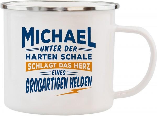 History & Heraldry Echte Kerle Becher Michael Emaille Becher Kaffeebecher Kaffeepott