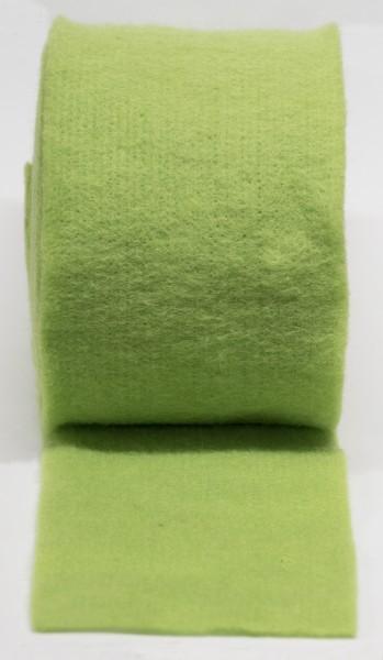 Topfband, Filz, Filzband, apfelgrün, 100% Wolle