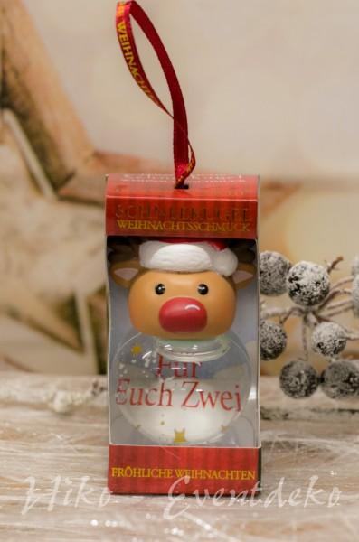 H&H History Heraldry Schneekugel, personalisiert, für die Weihnachtszeit Für immer Freunde
