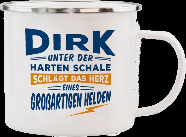 History & Heraldry Echte Kerle Dirk Emaille Becher Kaffeebecher Kaffeepott