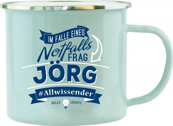 History & Heraldry Echte Kerle Becher Jörg Emaille Becher Kaffeebecher Kaffeepott