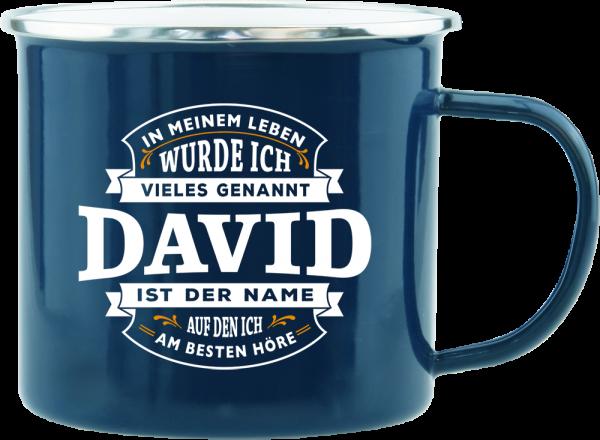 History & Heraldry Echte Kerle David Emaille Becher Kaffeebecher Kaffeepott