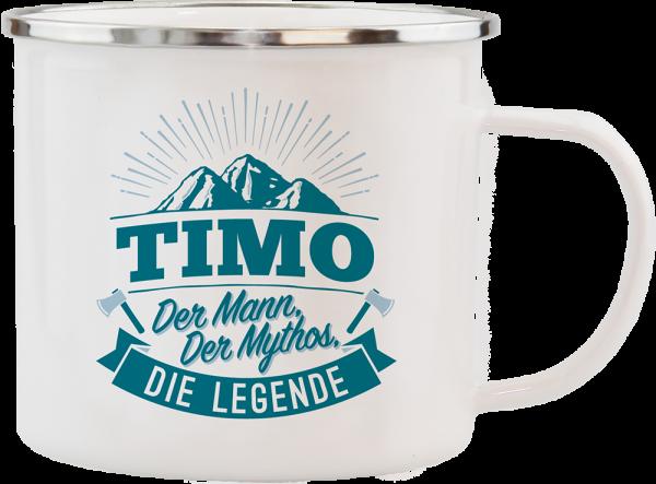 History & Heraldry Echte Kerle Becher Timo Emaille Becher Kaffeebecher Kaffeepott