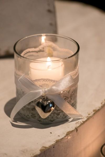 Teelichthalter Vintage Style, Hochzeit, Wedding, Hochzeitsdekoration 4er