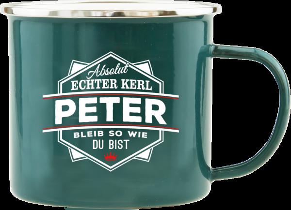 History & Heraldry Echte Kerle Becher Peter Emaille Becher Kaffeebecher Kaffeepott
