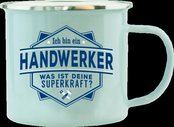 History & Heraldry Echte Kerle Handwerker Emaille Becher Kaffeebecher Kaffeepott