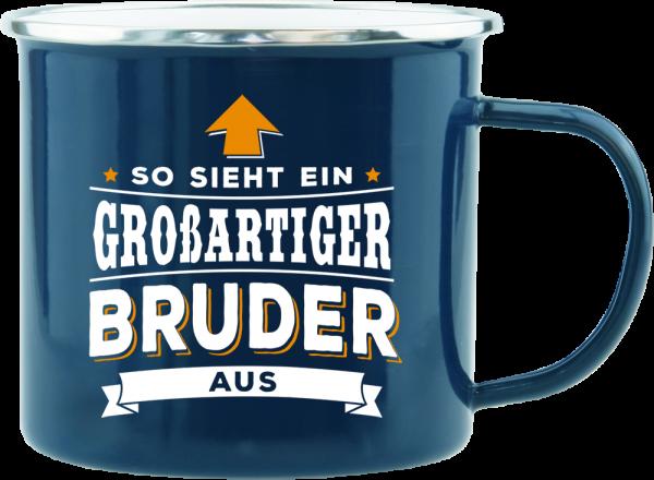 History & Heraldry Echte Kerle Becher Bruder Emaille Becher Kaffeebecher Kaffeepott