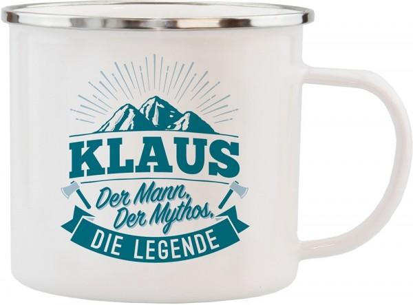 History & Heraldry Echte Kerle Becher Klaus Emaille Becher Kaffeebecher Kaffeepott
