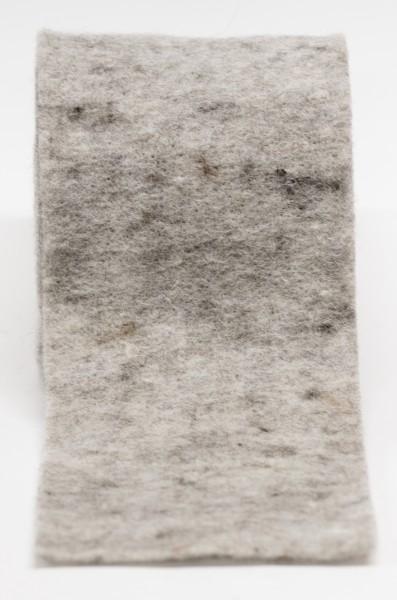 Filzband, Topfband, Filz grau 100% Wolle