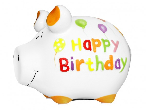 Lustiges Sparschwein- Happy Birthday - von KCG