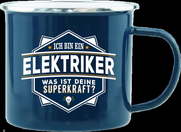 History & Heraldry Echte Kerle Elektriker Emaille Becher Kaffeebecher Kaffeepott