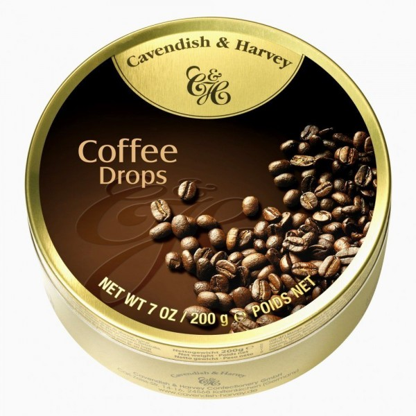 Cavendish & Harvey - Kaffee - Coffee Drops - Bonbons - 175g in Metalldose