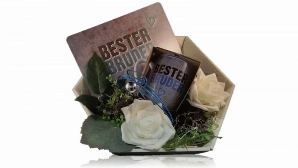 La Vida Geschenkset für Dich 2-teilig Becher und Brettchen Bester Bruder