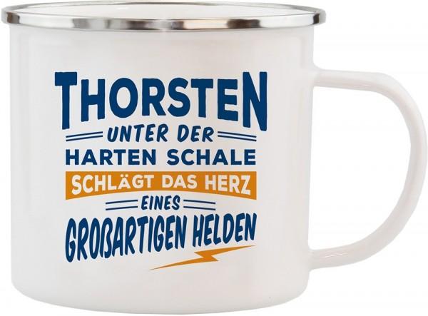 History & Heraldry Echte Kerle Becher Thorsten Emaille Becher Kaffeebecher Kaffeepott