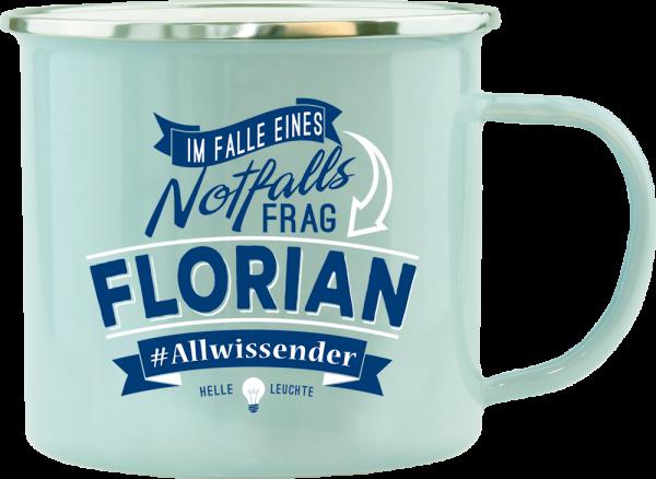 History & Heraldry Echte Kerle Florian Emaille Becher Kaffeebecher Kaffeepott