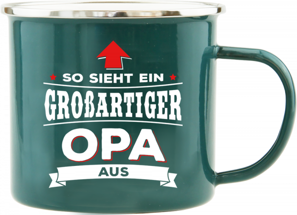History & Heraldry Echte Kerle Becher Opa Emaille Becher Kaffeebecher Kaffeepott