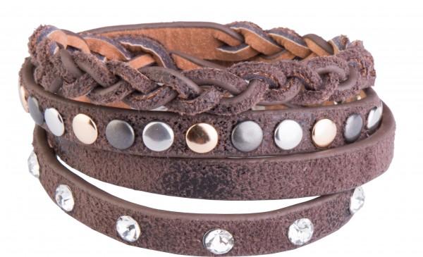 Goldline - COMBINATION 4 YOU JEWELRY® - Crystal Line Armband Wickelarmband 84