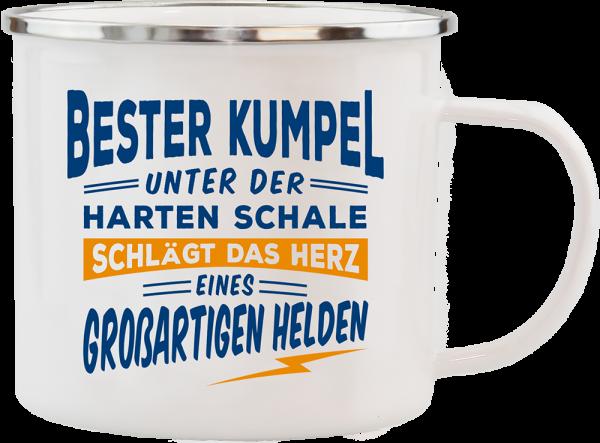 History & Heraldry Echte Kerle Becher Bester Kumpel Emaille Becher Kaffeebecher Kaffeepott