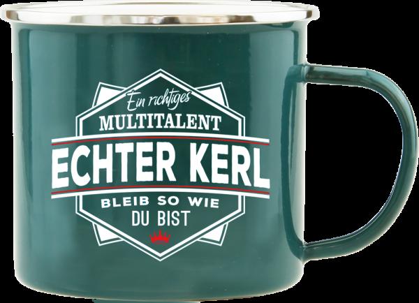 History & Heraldry Echte Kerle Becher Echter Kerl Emaille Becher Kaffeebecher Kaffeepott