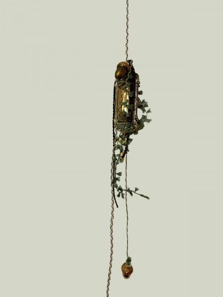 Fensterdeko Winter Nr.12 Ornament rechteckig 18 cm kupfer Hänger Weihnachten