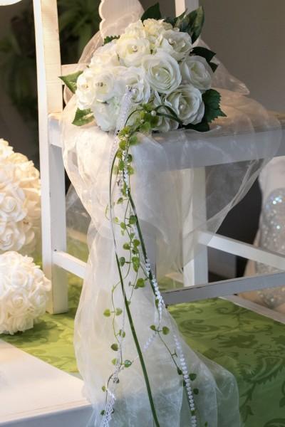 Brautstrauß aus Seidenblumen, creme Rosen, Strauß, Hochzeit, Wedding
