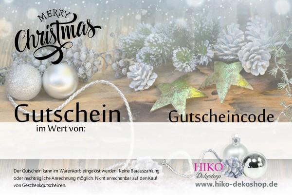 Gutschein Nr.1 Merry Christmas