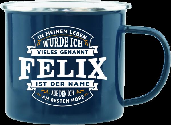 History & Heraldry Echte Kerle Felix Emaille Becher Kaffeebecher Kaffeepott