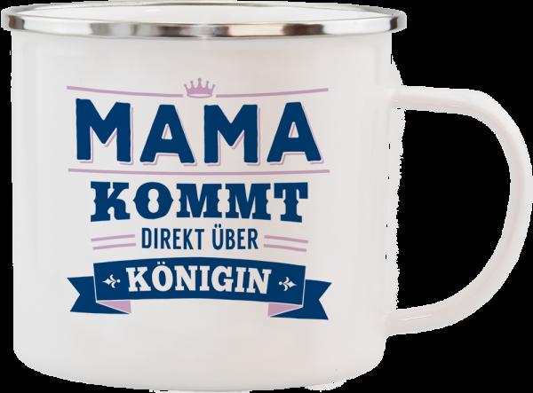 History & Heraldry Echte Kerle Becher Mama Emaille Becher Kaffeebecher Kaffeepott