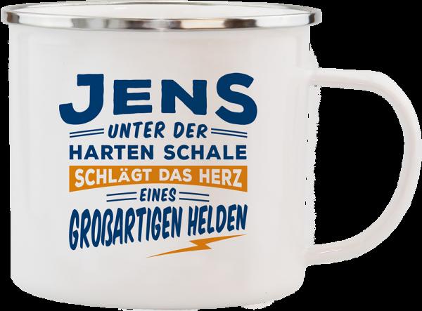 History & Heraldry Echte Kerle Becher Jens Emaille Becher Kaffeebecher Kaffeepott