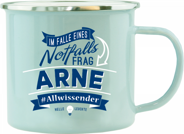 History & Heraldry Echte Kerle Arne Emaille Becher Kaffeebecher Kaffeepott