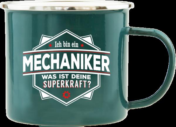 History & Heraldry Echte Kerle Mechaniker Emaille Becher Kaffeebecher Kaffeepott