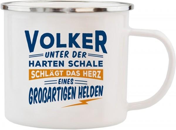 History & Heraldry Echte Kerle Becher Volker Emaille Becher Kaffeebecher Kaffeepott