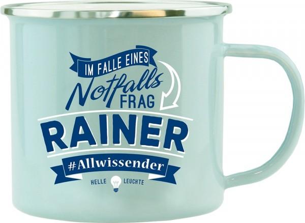 History & Heraldry Echte Kerle Becher Rainer Emaille Becher Kaffeebecher Kaffeepott
